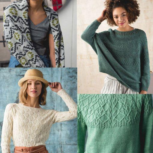Knitting magazine containing knit patterns