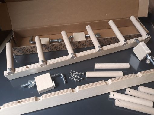 Louet Warping Posts & Clamps part assembled
