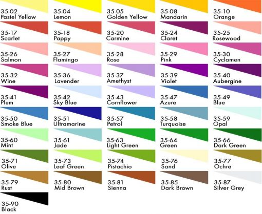 Deka Silk Colour chart