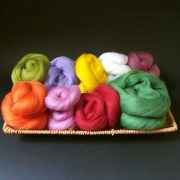 Wool tops for felting fruit or flowers