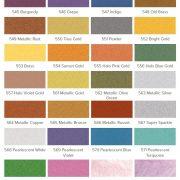 Jacquard Lumiere colour chart