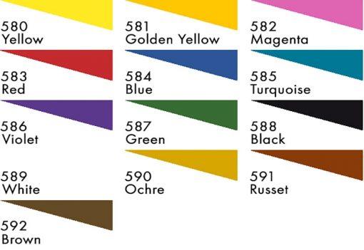 Jacquard Neopaque Colour chart