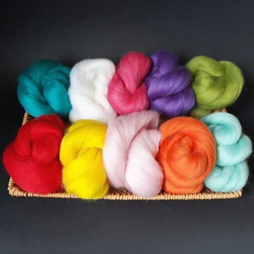 Wool top colours almost good enough to eat!