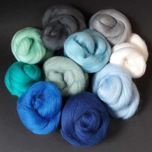 Merino wool 10g each colour for felt making