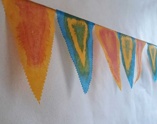 Bunting made from tissutex paper