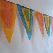 Bunting made from Tissutex and painted with Deka Silk