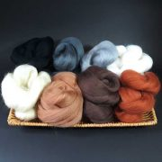 Selection of wool tops for needle felting