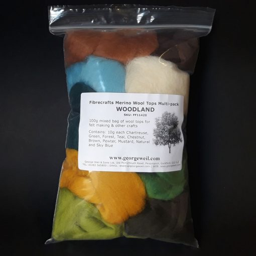 Wool tops for felt making