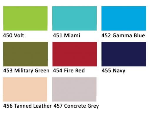Opaque fabric paint colours