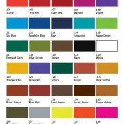 Jacquard Textile Colour chart
