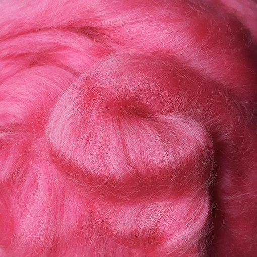 Madder Pink Dyed Merino Wool Tops