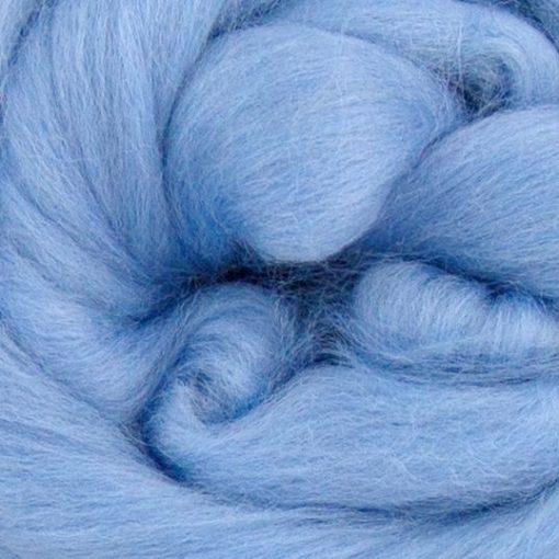 Pale Blue Merino Wool Tops
