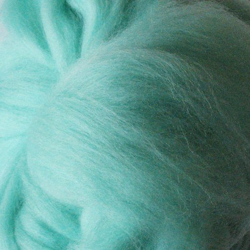 Aqua Coloured Dyed Merino Wool Tops