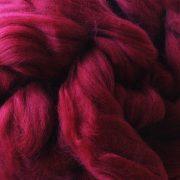 Burgundy Dyed Merino Wool Tops