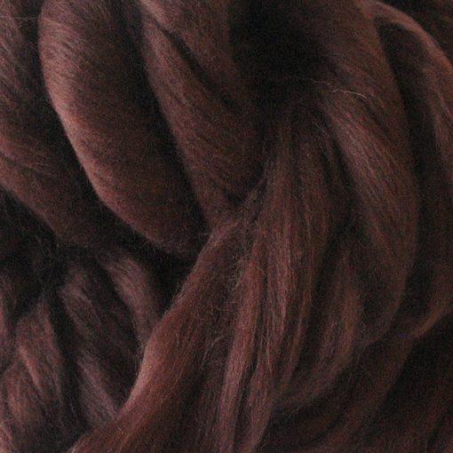 Chestnut Brown Dyed Merino Wool Tops