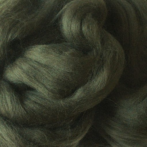 Forest Green Dyed Merino Wool Tops