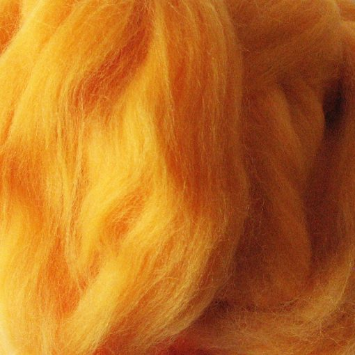 Golden Yellow Dyed Merino Wool Tops