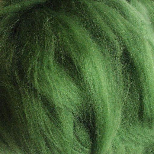 Green Dyed Merino Wool Tops