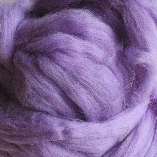 Lilac Dyed Merino Wool Tops
