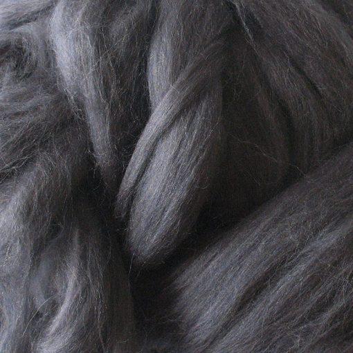 Dark Grey Dyed Merino Wool Tops