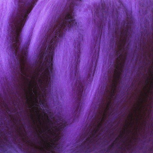 Purple Dyed Merino Wool Tops