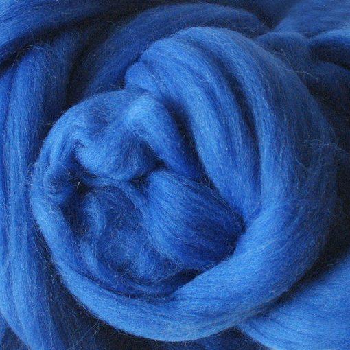 Royal Blue Dyed Merino Wool Tops