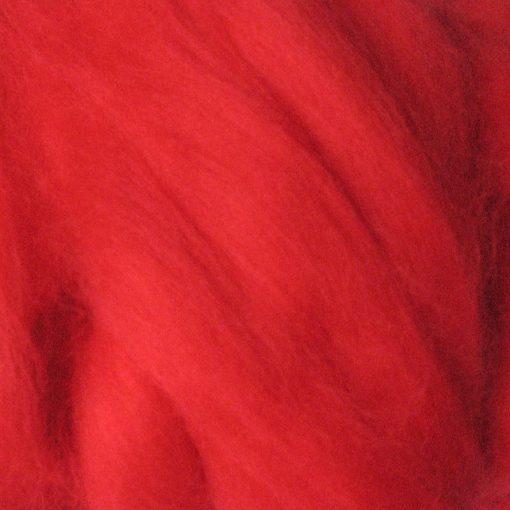 Scarlet Red Dyed Merino Wool Tops