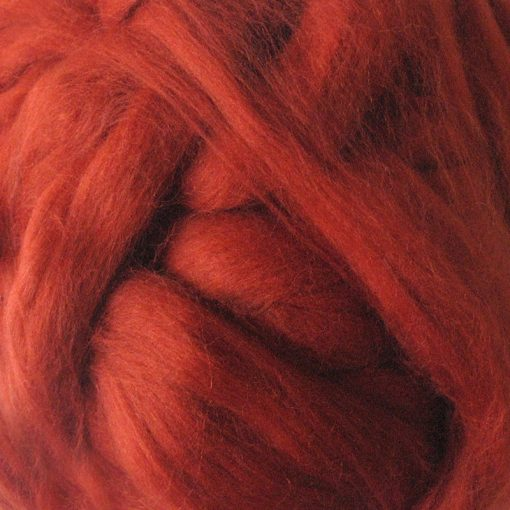Tan Brown Dyed Merino Wool Tops