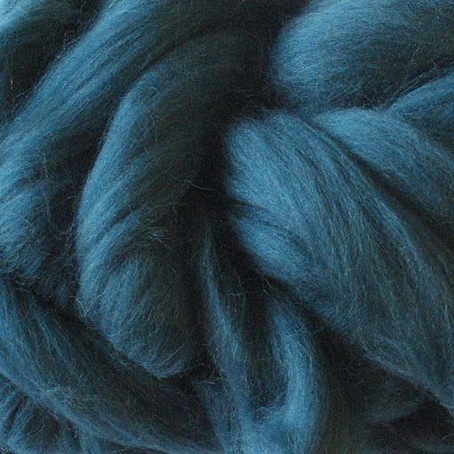 Teal Dyed Merino Wool Tops