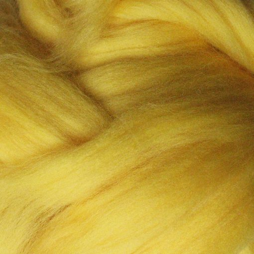 Yellow Dyed Merino Wool Tops