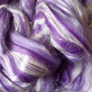 Merino Wool & Silk Blend - purples