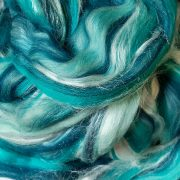 Blend of Tussah Silk and Merino Wool Tops