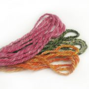 Hand spun yarn from blended silk & wool top