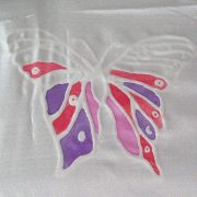 Silk painting using an outliner