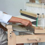 Weaving on the David loom