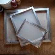 Silk screens for screen printing