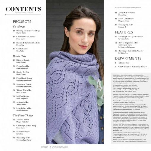 Interweave Knits Gifts 2019 Magazine Contents