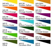 Fibrecrafts Fibre Reactive (Procion MX) Dyes colours