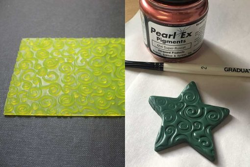 Texture maker print on polymer clay