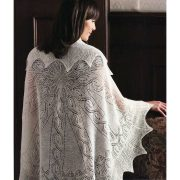 Wrapped in Lace by Margaret Stove - Flower & Fern Shawl