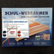 Weaving Kit with small loom and yarn