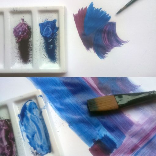Inktense Blocks for water colour painting