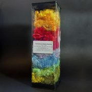 Hand-dyed silk fibres assorted colours