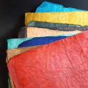 Handmade paper with leather effect