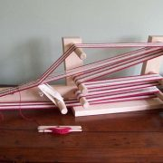 Schacht Inkle Loom warped up