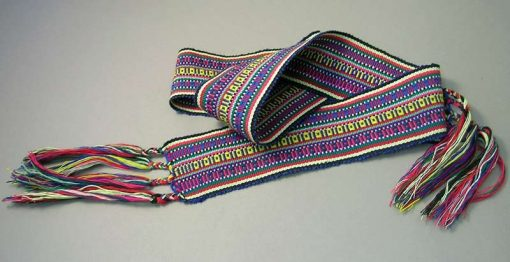 Strap woven on an inkle loom