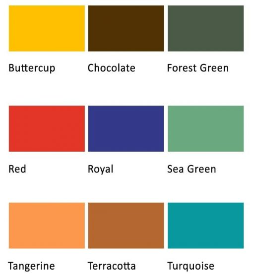 Colour chart for handmade papers