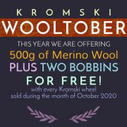 Free bobbins & wool - Kromski Wooltober