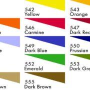 Deka Block Printing Ink colours