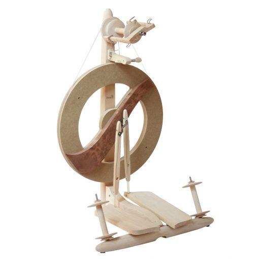 Kromski Fantasia Spinning Wheel untreated wood